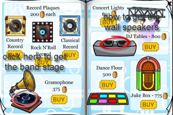 how to get the band stage and wall speakers