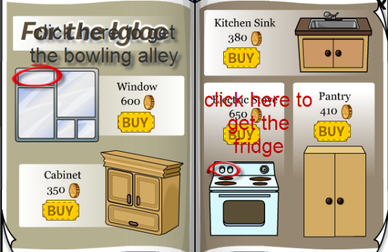 how to get the bowling alley and fridge