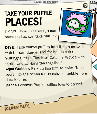 take your puffle places